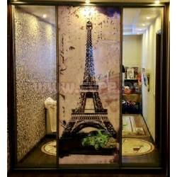 Шкаф с фотопечатью -Эйфелева башня