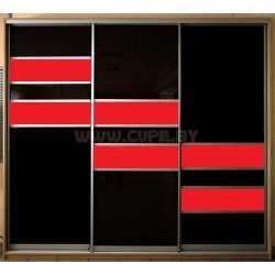 Шкаф Купе с лакобелем чёрного цвета