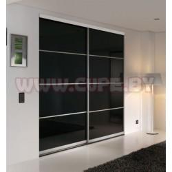 Шкаф-купе с чёрным стеклом