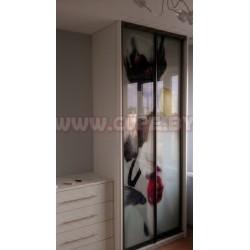 Шкаф Купе с фотопечатью Белая орхидея 2 двери