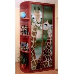 Шкаф купе с фотопечатью Жирафы