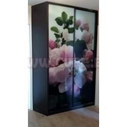 Фотопечать -цветы на шкафу купе