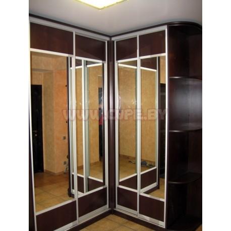 Г-образный Шкаф Купе на 4 двери