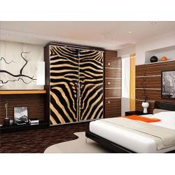 Шкаф купе коричневая зебра