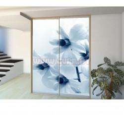 Шкаф-купе с фотопечатью белые цветы