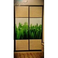 Шкаф купе фотопечать- трава