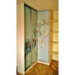 Белая орхидея на шкафу купе