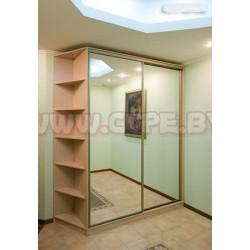 Шкаф купе с двумя зеркалами