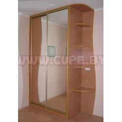 Шкаф Купе с зеркалом волнообразным