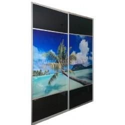 Шкаф Купе- фотопечать (пальмы)
