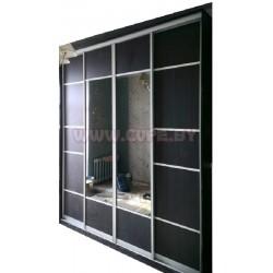 черный шкаф-купе с зеркалом