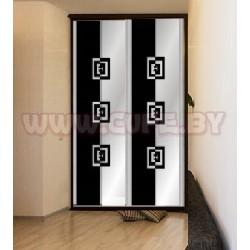 Чёрно-белый пескоструй шкафах купе