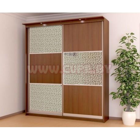 шкаф купе с декоративным стеклом
