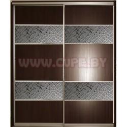 Шкаф Купе с вставками декоративного стекла
