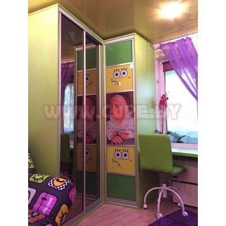 Шкаф Купе салатового цвета