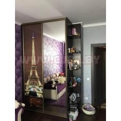 Шкаф на две двери Эйфелева башня