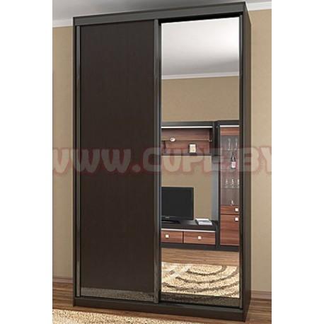 Двери для шкафа-купе зеркало и дсп