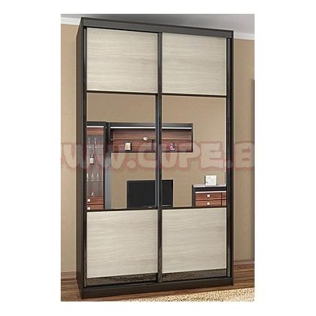 Двери для шкафа-купе комбинированные, дсп с зеркалом