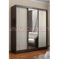 Двери для шкафа-купе 2 ЛДСП+ 1 зеркало