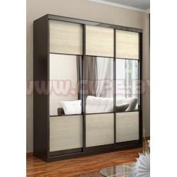 Три двери для шкафа-купе комбинированные дсп + зеркало