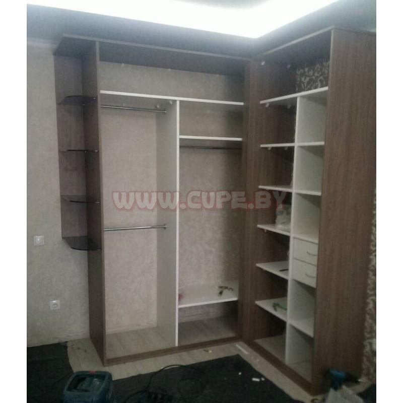 угловой шкаф купе для спальни