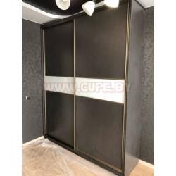 Шкаф-купе тёмно серого цвета