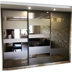 Пескоструйные полосы на зеркале бронза