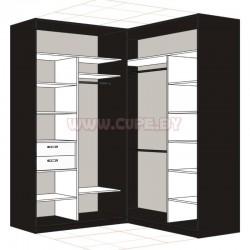 Наполнение шкафа-купе Г-образного на 4 двери