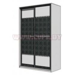 Шкаф-купе с декоративным стеклом - чёрные ромбы