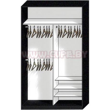 Наполнение Шкафа-купе для длинной и короткой одежды