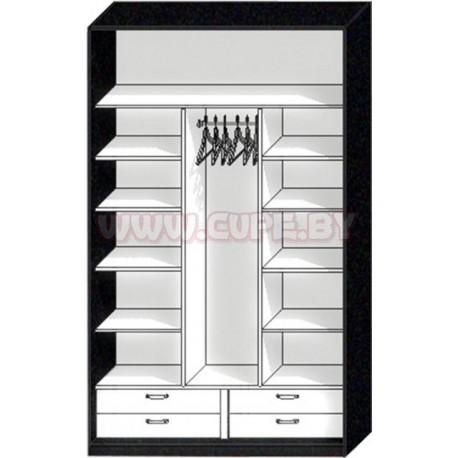 Наполнение шкафа-купе на три двери с шуфлядками