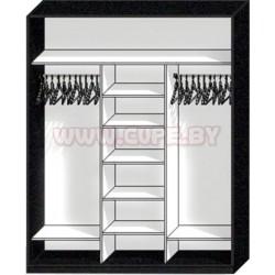 Базовое наполнение шкафа-купе на 3 двери