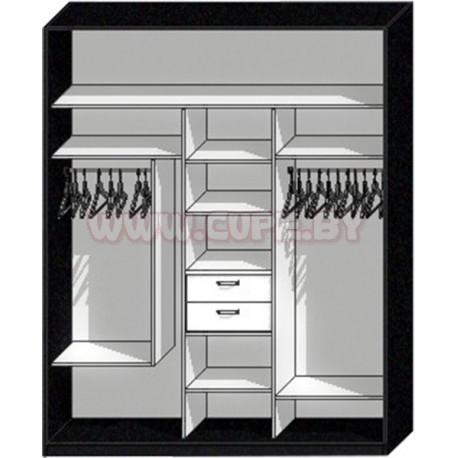 Наполнение шкафа купе на 3 двери
