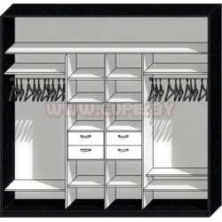 Премиальное наполнение шкафа-купе на четыре двери