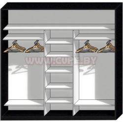 Наполнение для узкого шкафа-купе