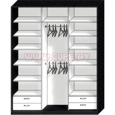 Наполнение шкафа-купе на три двери