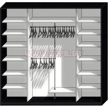Удобное наполнение для шкафа-купе на 4 двери